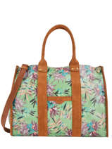 Shoppingtas A4 Formaat Palm Raffia Mila louise Groen palm 23691PLM