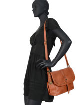 Cross Body Tas Monique Lulu castagnette Bruin vintage MONIQUE-vue-porte