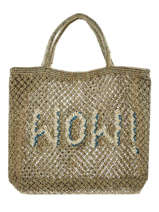 "Shoppingtas ""wow!"" Van Jute The jacksons Groen word bag S-WOW"