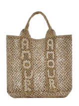 "Shoppingtas ""amour"" Van Jute The jacksons Groen tessa T-AMOUR"
