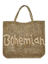 "Shoppingtas ""bohemian"" Van Jute The jacksons Groen word bag S-BOHEMI"
