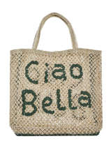 "Shoppingtas ""ciao Bella"" Van Jute The jacksons Beige word bag S-CIAOBE"