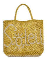 "Shoppingtas ""soleil"" Van Jute The jacksons Geel word bag S-SOLEIL"