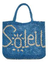 """Shoppingtas """"soleil"""" Van Jute The jacksons Roze word bag S-SOLEIL"""
