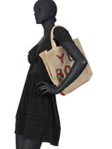 "Shoppingtas ""you Rock!"" Van Jute The jacksons Beige word bag S-YOUROC-vue-porte"