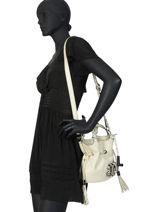 Bucket Bag S Premier Flirt Python Leder Lancel Beige premier flirt A10528A10528-vue-porte
