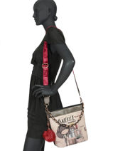 Cross Body Tas Couture Anekke Beige couture 29882-56-vue-porte