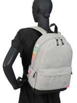 Rugzak 1 Compartiment Superdry Grijs backpack woomen W9110026-vue-porte