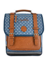 Sac A Dos 2 Compartiments Cameleon Blauw vintage print girl PBVGSD38