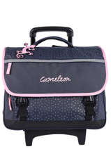Cartable A Roulettes 3 Compartiments Cameleon Blauw basic PBBACR41