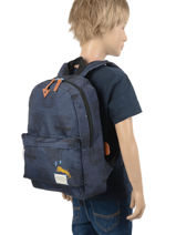 Rugzak In Your Face 1 Compartiment Skooter Blauw in your face 315-vue-porte