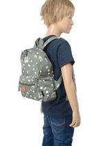 Rugzak Little Boy 1 Compartiment Kidzroom Groen fearless 9415-vue-porte