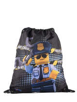 Rugzak Lego Blauw city police chopper 3