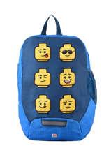 Mini Rugzak Lego Blauw face blue 6