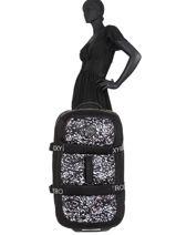 Soepele Reiskoffer Luggage Neoprene Roxy Zwart luggage neoprene RJBL3202-vue-porte