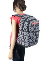Rugzak Here You Go 3 Compartimenten Roxy Zwart back to school RJBP4159-vue-porte