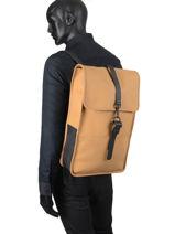Business Rugzak Backpack Rains Geel boston 1220-vue-porte