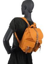 Rugzak 1 Compartiment Herschel Oranje classics woman 10301-vue-porte