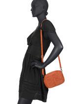 Cross Body Tas Velvet Leder Milano Oranje velvet VE19111-vue-porte