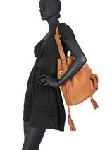 Bucket Bag L Premier Flirt Leder Lancel Bruin premier flirt A10924-vue-porte