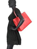 Schoudertas Th Shopping Bag Tommy hilfiger Rood shopping bag AW08731-vue-porte