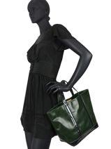 Handtas Le Cabas Leder Pailletten Vanessa bruno Groen cabas cuir 2V40413-vue-porte