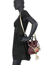 Bucket Bag S Premier Flirt Leder Lancel Violet premier flirt A10530-vue-porte