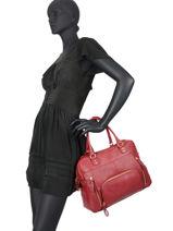 Handtas Vintage Leder Nat et nin Rood vintage MACY-vue-porte