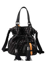 Bucket Bag M Premier Flirt Matelassé Leder Lancel Zwart premier flirt A11139