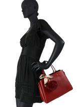 Handtas Sable Leder Miniprix Rood sable DQ815-vue-porte