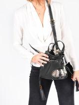 Bucket Bag S Premier Flirt Python Leder Lancel Zwart premier flirt A10528-vue-porte