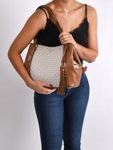 Shoppingtas Carrie Michael kors Bruin carrie F0G1AE3B-vue-porte