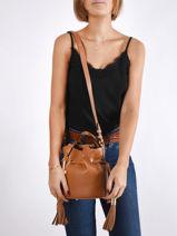 Bucket Bag S Premier Flirt Python Leder Lancel premier flirt A10528-vue-porte