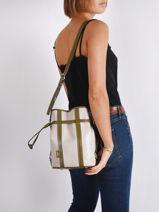 Bucket Bag S Elsa Leder Lancel elsa A10997-vue-porte