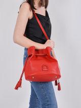 Bucket Bag Tradition Leder Etrier Rood tradition EHER29-vue-porte