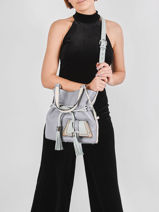 Bucket Bag M Premier Flirt Leder Lancel Blauw premier flirt A10531-vue-porte
