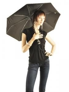 Paraplu Isotoner Zwart petits prix 9189-vue-porte