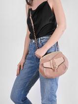 Cross Body Tas Vintage Leder Mila louise Roze vintage 3337LCV-vue-porte