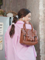 Handtas Vintage Leder Paul marius Bruin vintage S