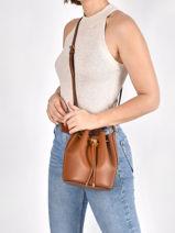 Mini Bucket Bag Debby Ii Leder Lauren ralph lauren Bruin andie - 31837534-vue-porte