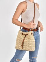 Bucket Bag Debby Raffia Lauren ralph lauren Beige dryden 31826559-vue-porte