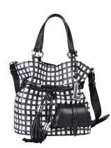 Bucket Bag M Premier Flirt Vichy Leder Lancel Zwart premier flirt A11533