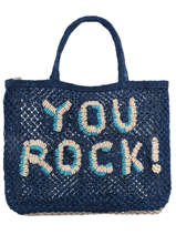 "Shoppingtas ""you Rock!"" Van Jute The jacksons word bag YOUROC"