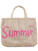 """Shoppingtas """"summer"""" Van Jute The jacksons Beige word bag SUMMER"""