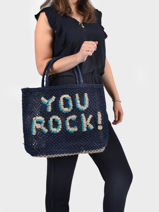"Shoppingtas ""you Rock!"" Van Jute The jacksons word bag YOUROC-vue-porte"
