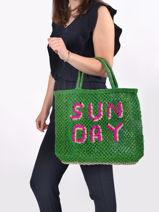 "Shoppingtas ""sunday"" Van Jute The jacksons Groen word bag SUNDAY-vue-porte"