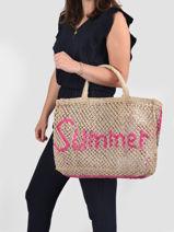 "Shoppingtas ""summer"" Van Jute The jacksons Beige word bag SUMMER-vue-porte"