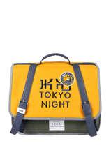 Boekentas 1 Compartiment Ikks Geel backpacker in tokyo 20-38836