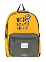 Rugzak 2 Compartimenten Ikks Geel backpacker in tokyo 20-63836