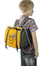 Boekentas 1 Compartiment Ikks Geel backpacker in tokyo 20-38836-vue-porte